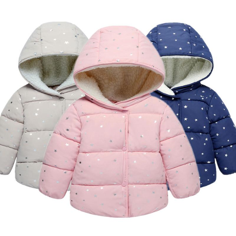 b8c528dd0 Toddler Baby Girls Winter Jacket Coat Children Autumn Outerwear Cotton Baby  Girl Jacket Children Clothes 0 2 Years Clothes Toddler Boys Down Jacket Girl  ...
