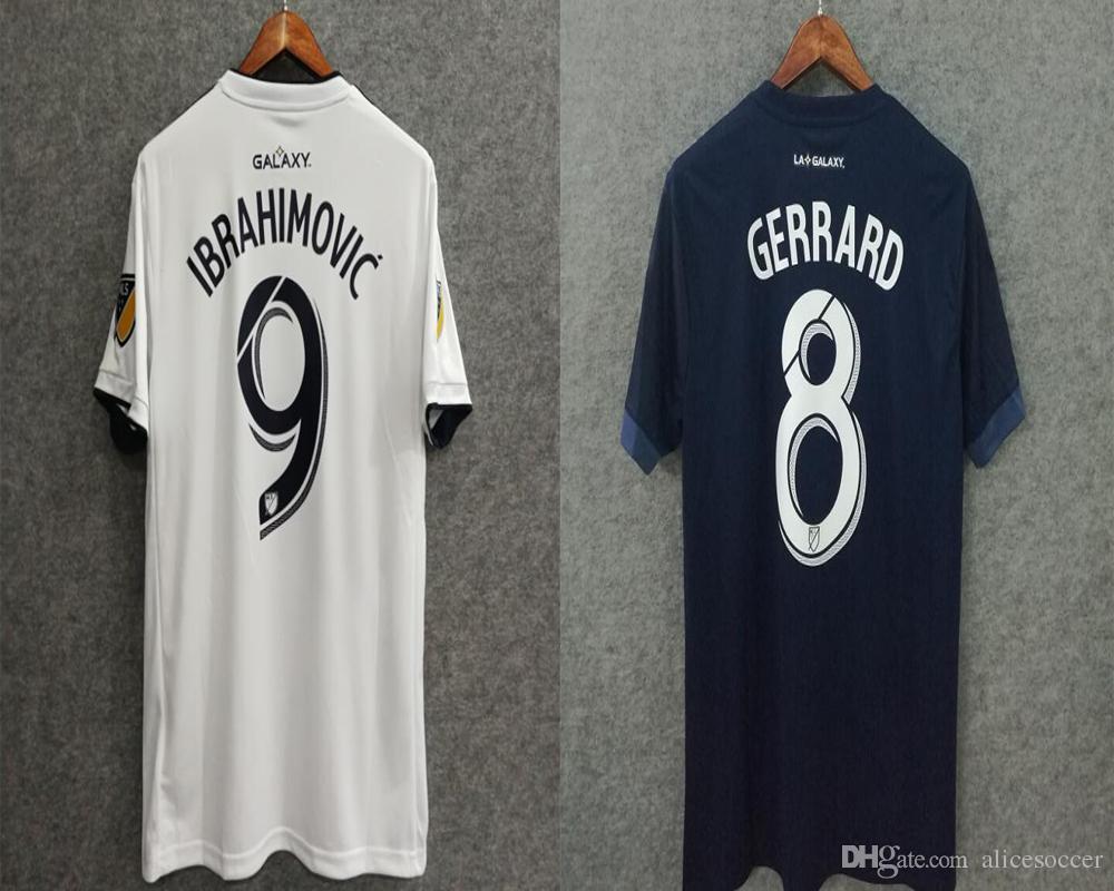 Wholesale 18 19 Galaxy Soccer Jerseys Away Top Quality Custom 9  IBRAHIMOVIC Soccer Uniforms Football Jerseys Soccer Clothing LA XXL XXXL  IBRAHIMOVIC ... 4b450a491