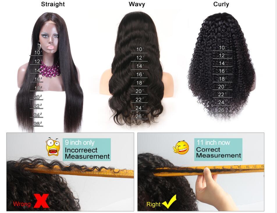 Malese Water Wave merletto dei capelli umani parrucche anteriori 8-26inch Glueless del merletto parrucca Nuovo arrivo piena del merletto di colore naturale