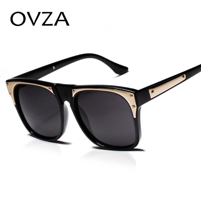 c70ba642302 Ovza 2017 Rectangle Big Frame Men Glasses Fashion Designer Sunglasses Women  Vintage Dark Sunglasses Transparent Frames A136 Oculos Masculino Dark  Sunglasses ...