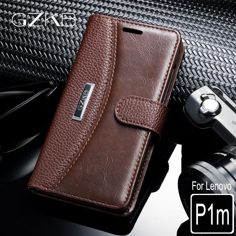 low priced a3af2 e80c4 For Lenovo Vibe P1m Case Cover GZKB High Quality Luxury Leather Flip Wallet  Case For Lenovo Vibe P1ma40 Phone Bags Cover 5.0''