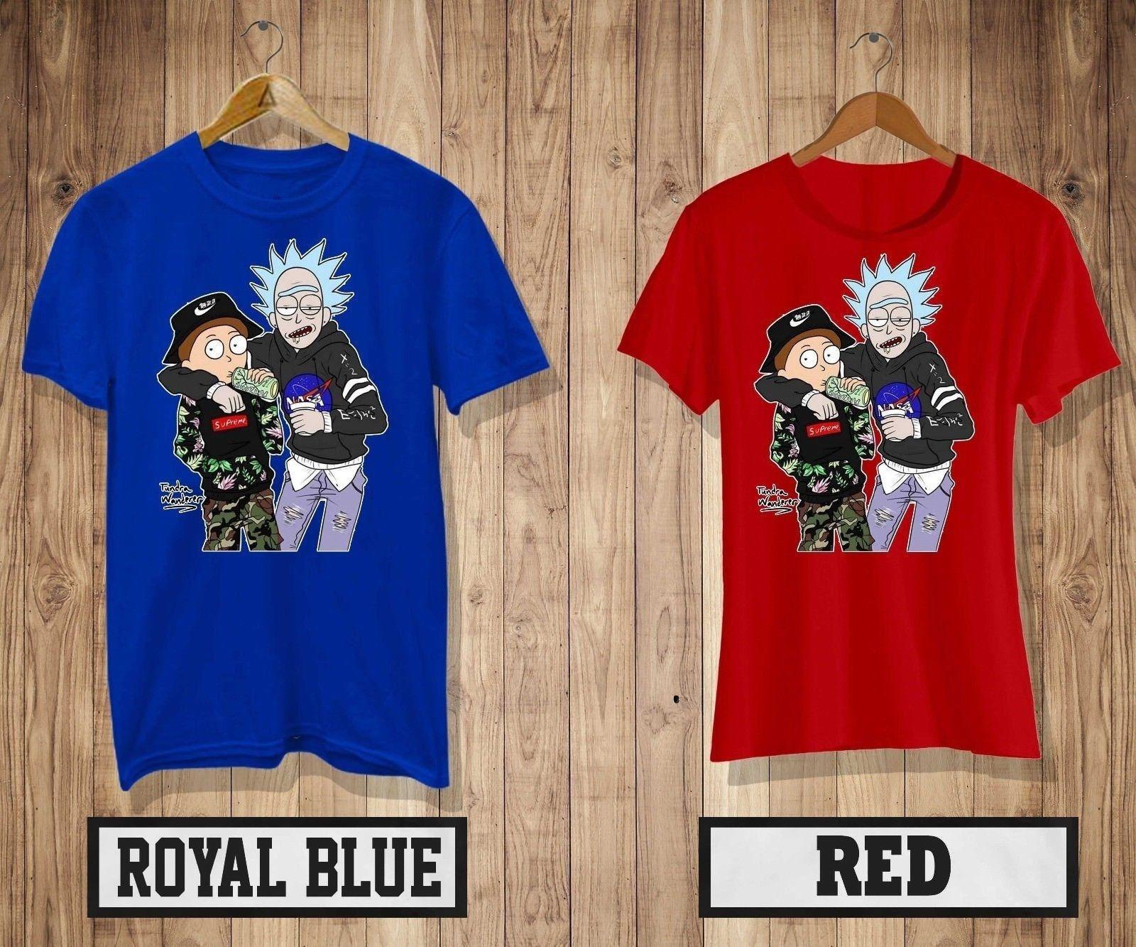 1fbb32d0f New Rick And Morty Men O Neck High Quality Hot Sell T Shirt Mens/Womens  Red&Blue Colour Shirt 2 Web T Shirts Great Tee Shirt Designs From  Onecktshirt, ...