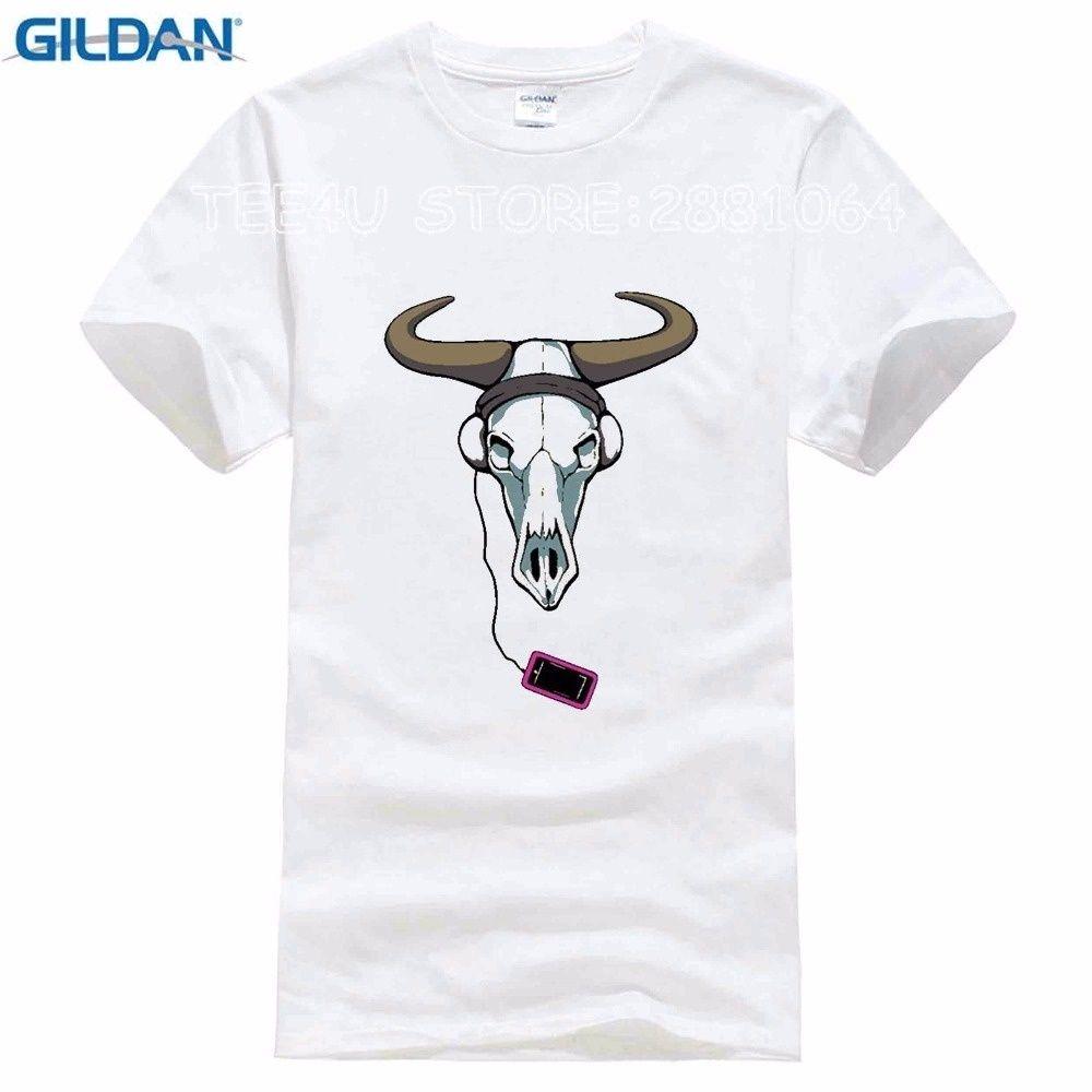 Novelty Funny Men T Shirt Cow Music Creative Print Tshirt Short