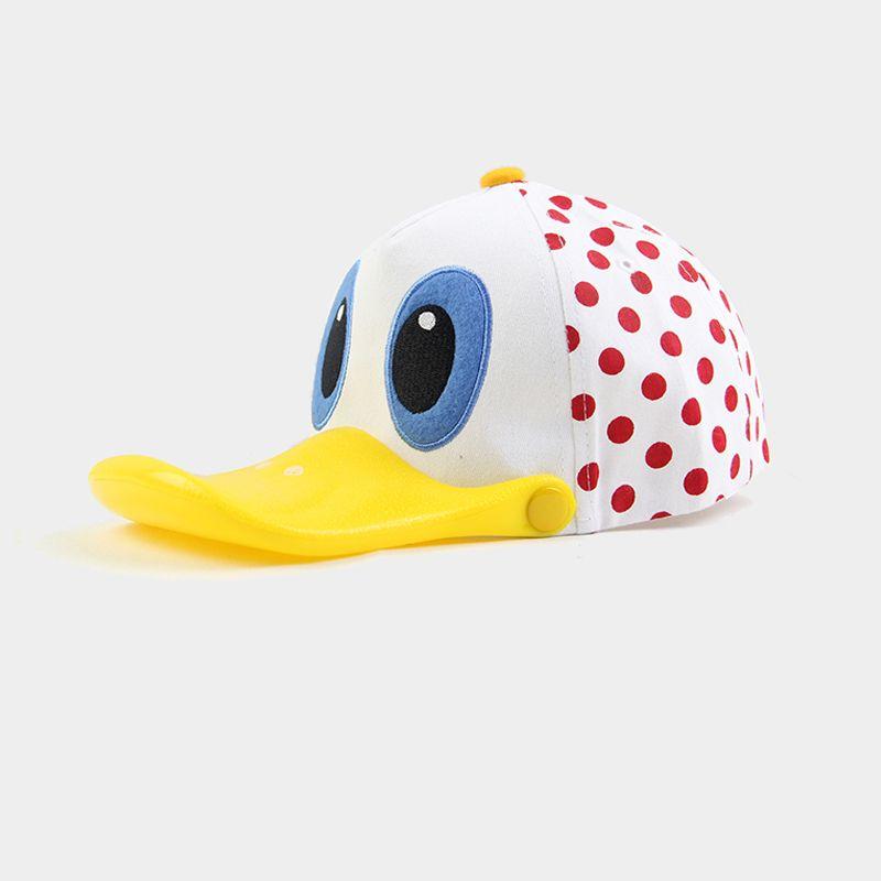 cd6fdfc79fe Kids Spring Baseball Cap Summer Net Cartoon Duck Visors Boys Red Polka Dot  Visera Gorra Nina Girls Sonable Cute Duckbill Hats Kind Zonneklep Cap Hat  Flat ...