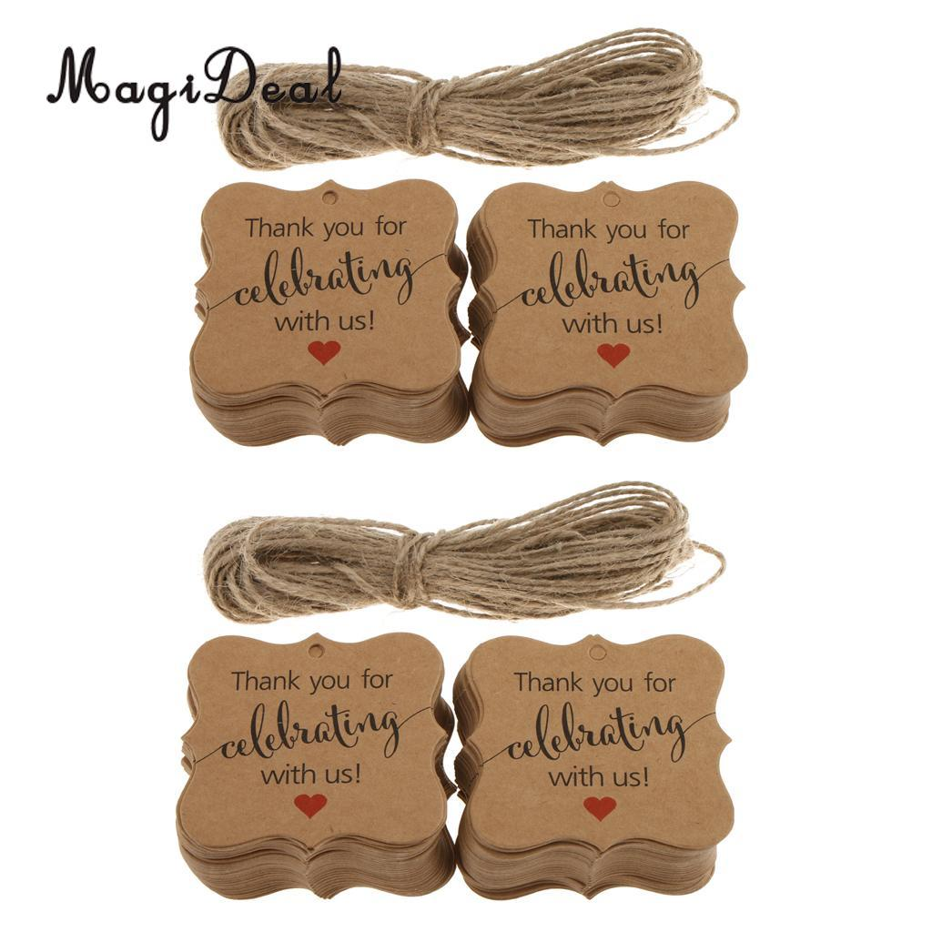 Thank You For Wedding Gift: Rustic Kraft Paper Thank You For Celebrating With Us Gift