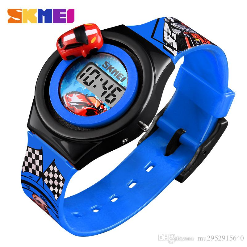 1e954494bb60 Compre Marca De Lujo Para Niños Reloj De Moda Electrónico Digital  Estudiante Reloj De Dibujos Animados Coche Creativo Reloj Para Niños Niño  Niña Adecuado ...