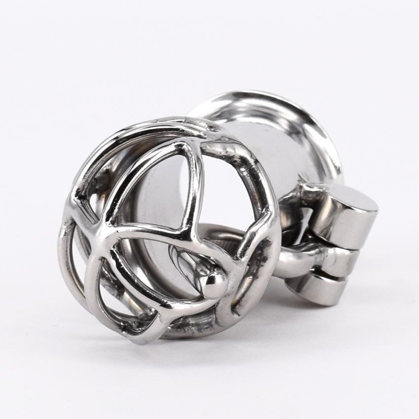 Más nueva llegada PA Lock Male Chastity Cage Dispositivo de Castidad de Acero Inoxidable Juguetes Sexuales Para Hombres Gálibo Punción Piercings Genitales