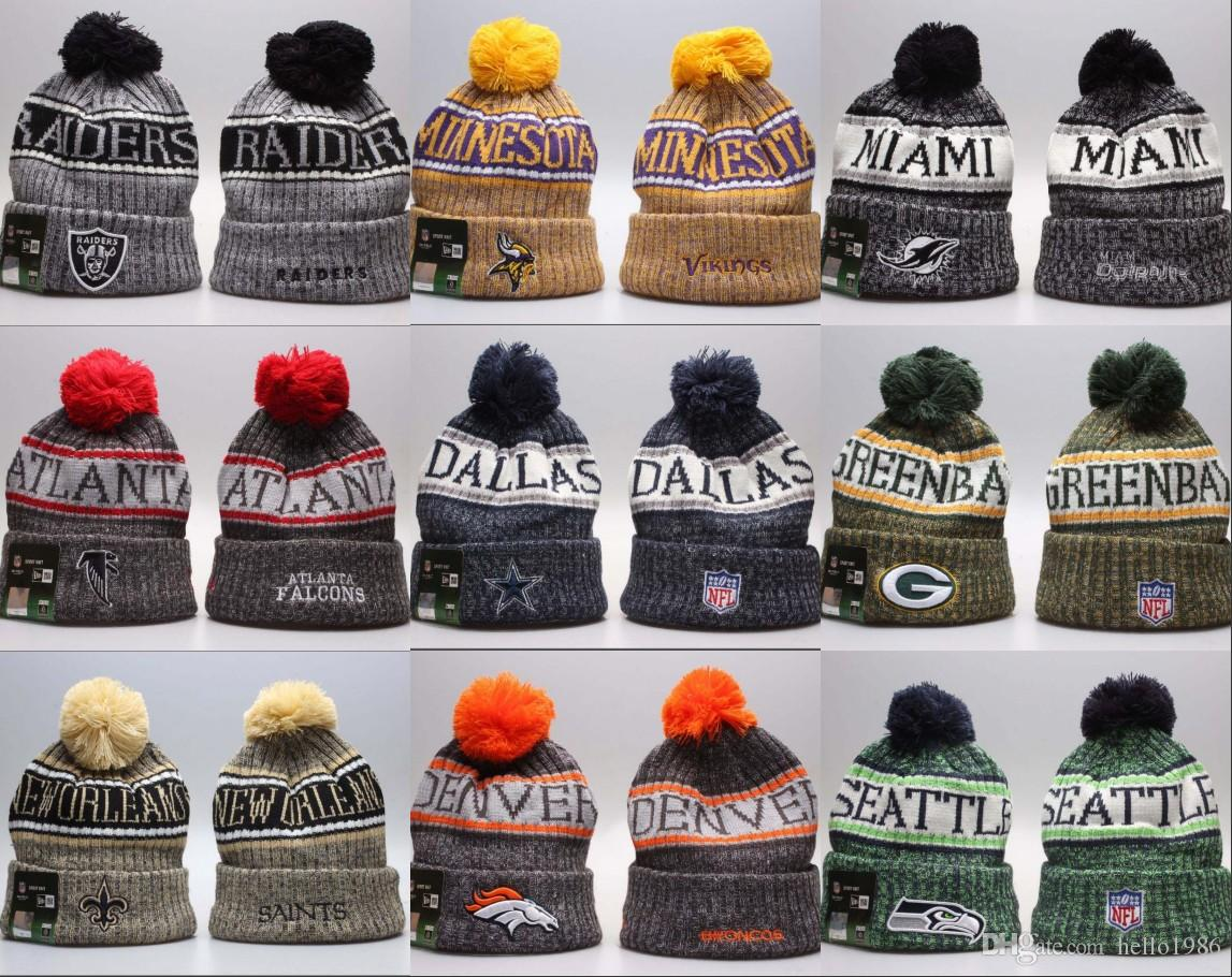 2018 Wholesale Winter Beanie Knitted Hats All 32 Teams Football ... 8183942c725