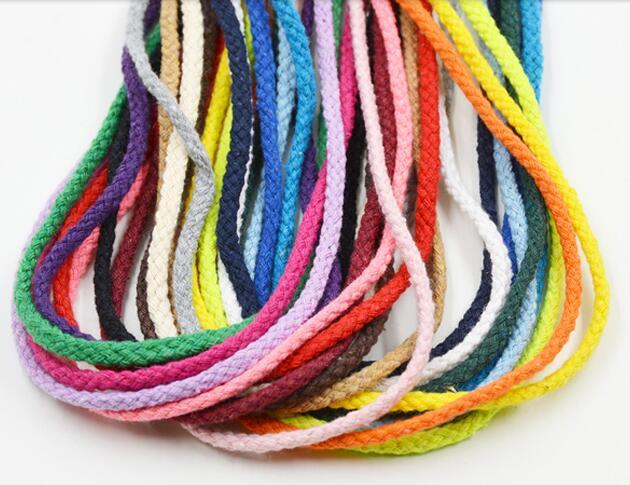 100Meter 5mm Natural Cotton Rope 8 Strand Braided Long Twisted Cord Twine Sash Accessory Drawstring Cord Rope Craft String