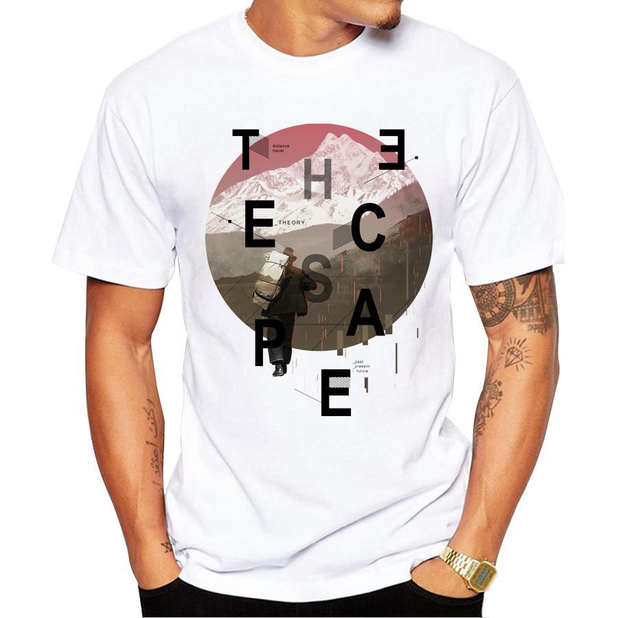 5f29da00b Novelty Nice Printed The Escape Design Mens T Shirts Top Quality Fashion  Short Sleeve Men Tshirt Men Tee Shirts Tops Men T Shirt Humor Shirts  Offensive T ...