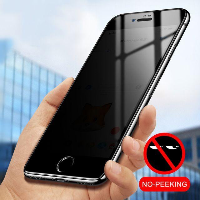 0b9461c4086 Protector Para Pantalla Vidrio Templado Para IPhone 6 6s 7 8 Plus 5 5S SE  4S Anti Privacidad Protector De Pantalla Anti Ver Para IPhone X  Salvapantallas ...