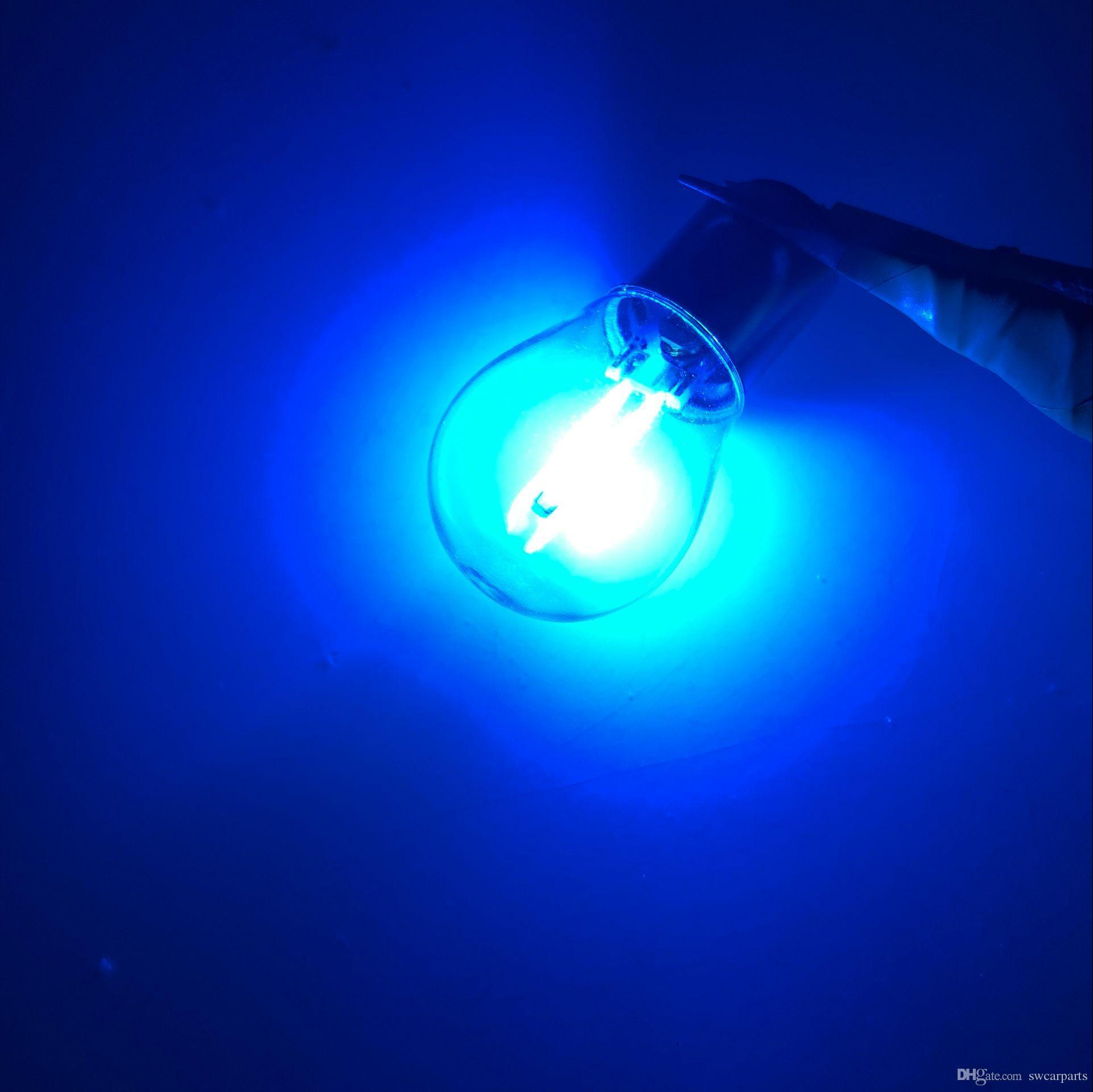Yeni BA15S 1156 P21W 1157 Bay15d COB 1.5 W LED Araç Ters Ampul fren lambaları filament araba park ışıkları DC 12 V Beyaz Sıcak beyaz