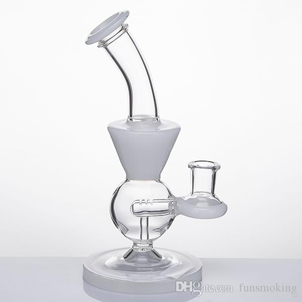 Newset Glaswasserpfeifen Glass Banger Hanger Nail Glaspfeifen Dab Rigs Oil Rig Becherglas Showerhead Bubbler 027