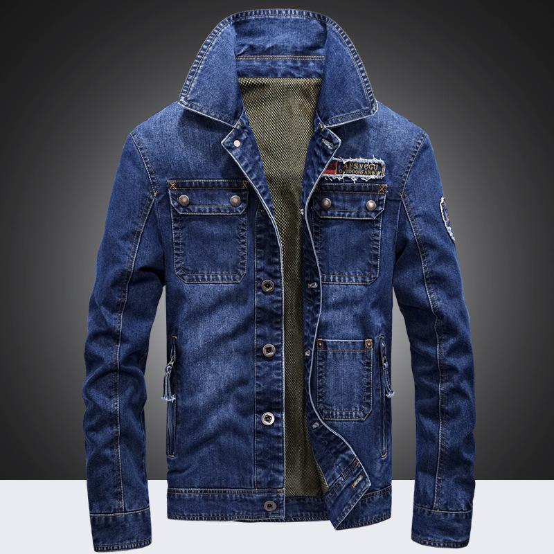 64a5dfd7c98c Großhandel Afs Marke Männer Oberbekleidung Mäntel Blaue Farbe Denim Jacken  Mode Jeans Für Männer 128 Von Qualityclothes,  80.29 Auf De.Dhgate.Com    Dhgate
