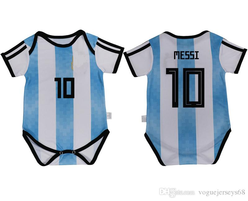 ae085723a16 2019 Argentina Team Uniforms For Baby 6 18 Month #10 Lionel Messi 9 Icardi  1 Sergio Romero 14 Mascherano Sports Custom Soccer Jerseys Cheap From ...