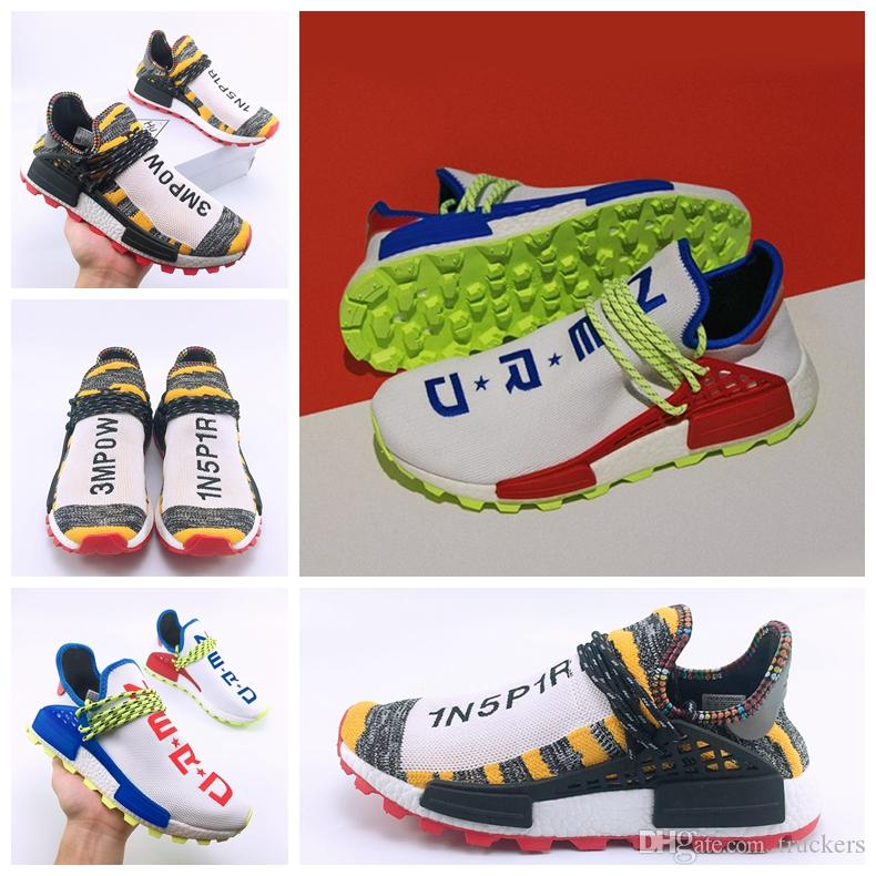d6d58085086af 2018 Creme X NERD Solar Hu Human Race Running Shoes Pharrell Williams Races  Pharell Williams Mens Womens Trainers Sports Sneakers 36 47 Running Shoe  Best ...