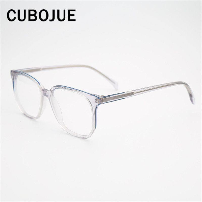 d6152454962d7 Compre Marca Transparente Óculos Homens Mulheres Quadrado Acetato Armações  De Óculos Homem Feminino Pontos Para Dioptria Prescrição Óculos Claro De  Haroln