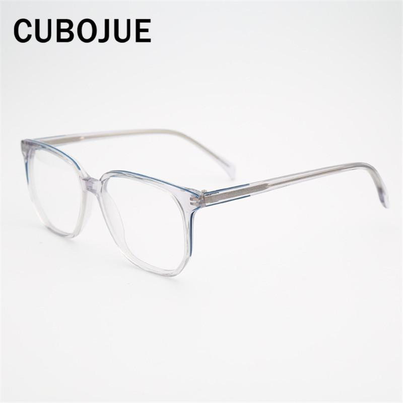 Compre Marca Transparente Gafas Hombres Mujeres Acetato Cuadrado Marcos De  Anteojos Hombre Mujer Puntos Para Dioptrías Receta Anteojos Transparentes A  ... 797d38eb278c