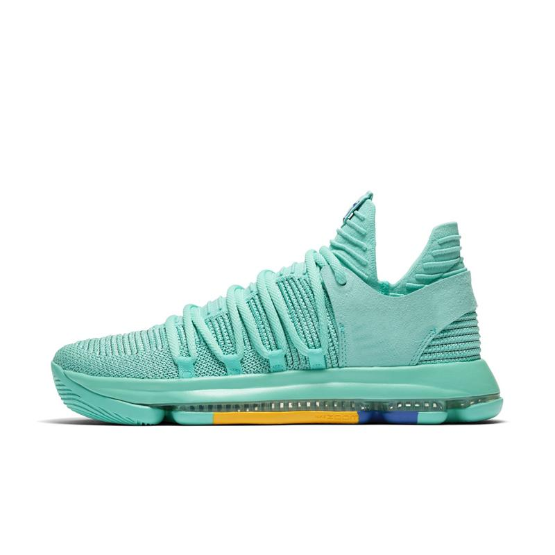 purchase cheap 59b89 48580 2019 Cheap New Mens KD 10 Low Cut Basketball Shoes 2018 City Pack Mint  Royal Blue Red China Kevin Durant KD10 X Sneakers Boots With Box For Sale  From ...
