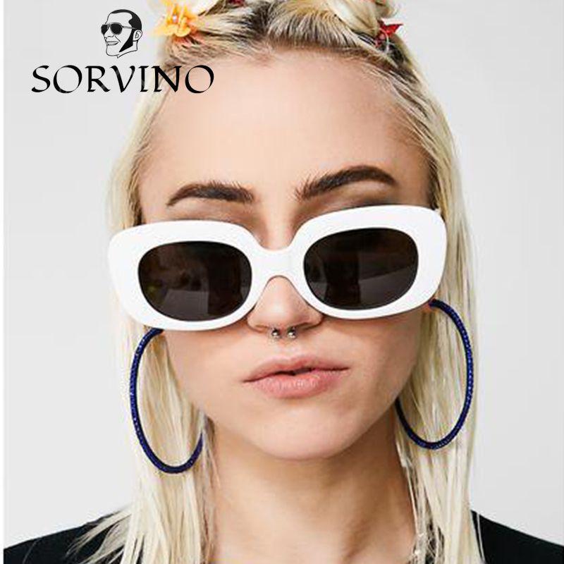 05df3bbf85f1d Compre SORVINO 2018 Oversized Retangular Óculos De Sol Das Mulheres  Designer De Marca Retro Vintage Grosso Quadro 90 S Chic Óculos De Sol Tons  De Sorvino, ...