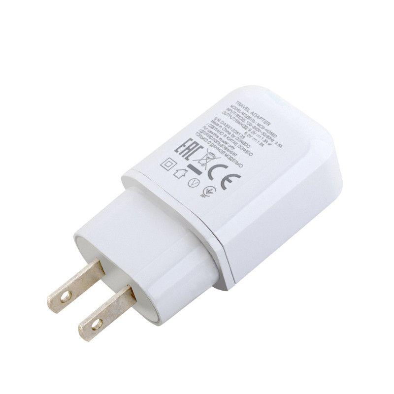 Carga rápida rápida EU AC Home CA Home Carregador de Potência do Carregador para LG G4 G5 V10 V20 com Tipo C Cabo USB