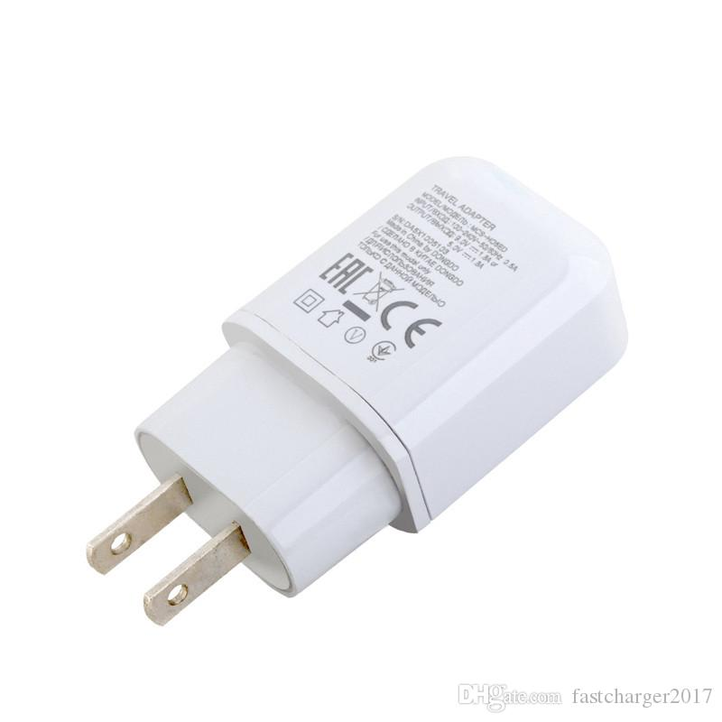 Schnelle Quick Charge 9V 1.8A 5V 1.8A Eu US-Wechselstrom-Hauptwand-Ladegerät Netzteil für LG G4 G5 V10 V20 mit Typ C USB-Kabel