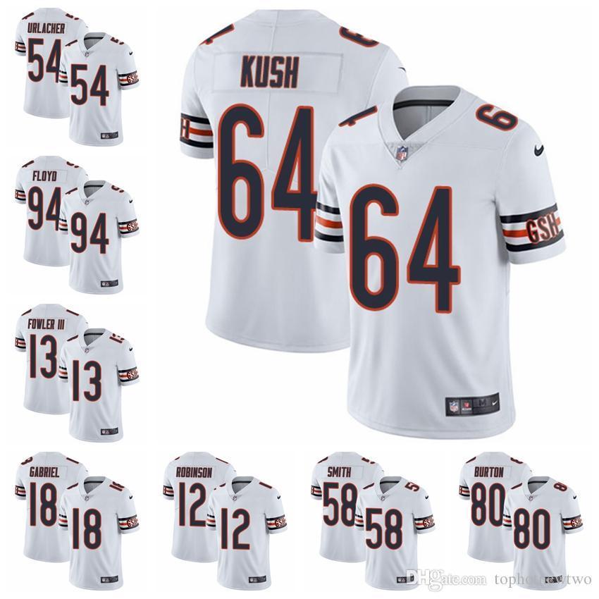 hot sale online 67f3b 0d128 Chicago Limited Road football Jersey Bears White Vapor Untouchable 52  Khalil Mack 10 Mitchell Trubisky 54 Brian Urlacher 31