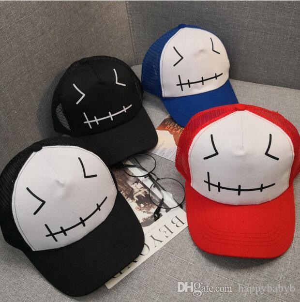 Toptan Trucker Kap Çocuk Yaz Net beyzbol şapkaları Erkek Örgü Güneşlik kapaklar Çocuklar şapkalar Rahat Kız şapka