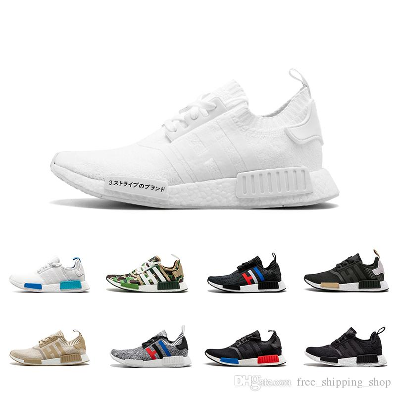 20640d415bf4a Discount Japan White Black Oreo NMD Runner R1 Men Womens Designers Triple  White Grey Og Clasic Running Sneakers Trainers Sport Shoes Best Running  Shoes ...