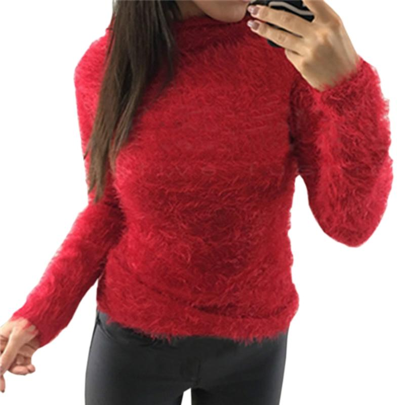 Knitted Women Sweater Top Warm Fuzzy TurtleneckAutumn Winter Sweaters Tops  Plus Size Casual Pullovers Basic Long Sleeve GV190 549f40e70