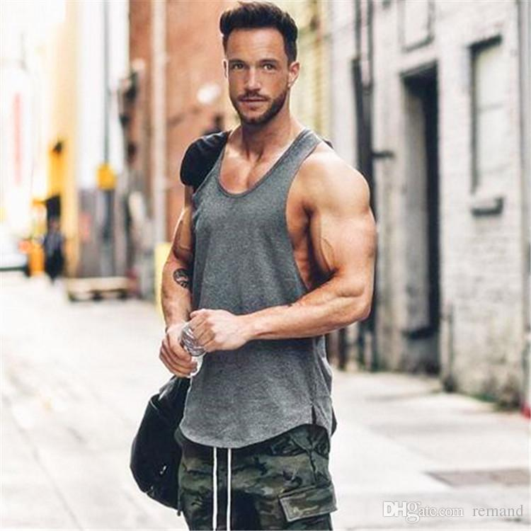694fb1fa98da5 2018 Wholesale Golds Gyms Clothing Workout Singlet Canotte Bodybuilding  Stringer Tank Top Men Fitness T Shirt Zyzz Muscle Brand Sleeveless Vest  From Remand
