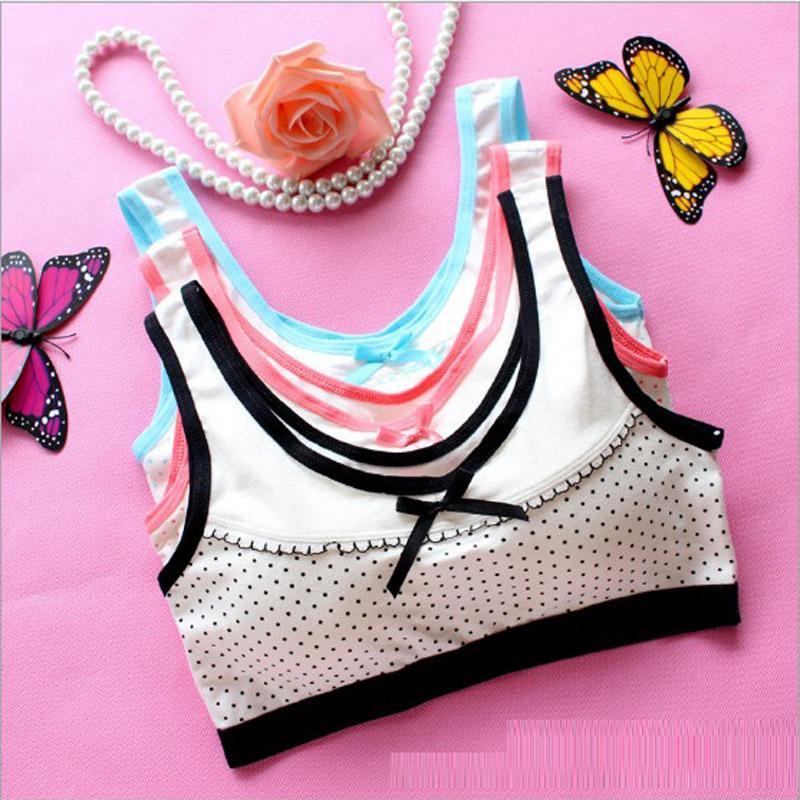 / Bambini Ragazze Training Bra Teenage Girl Underwear Cotton Child Bra bambini Reggiseni Student Young Girls Puberty Underwear