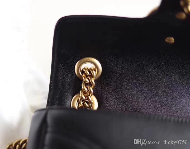 الجملة حقيقية الجلود سلسلة سلسلة محفظة الموضة حقيبة الكتف حقيبة يد جلد البقر طويل النظر حامل بطاقة محفظة مساء حقيبة رسول النساء
