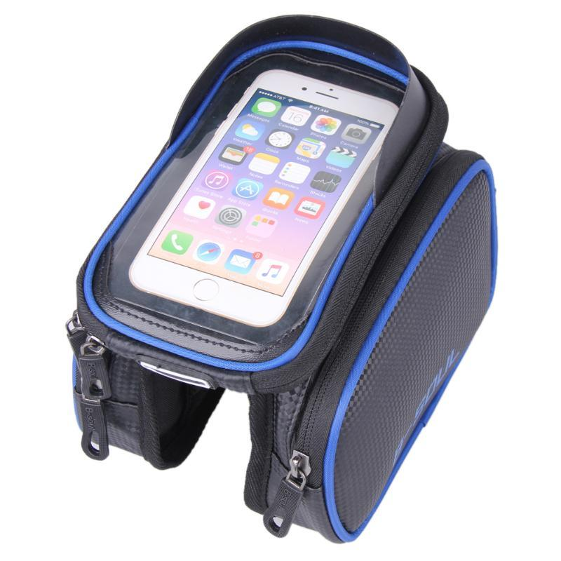 New 6.2 Inch Waterproof TPU Touch Screen Bike Bags MTB Road Bicycle Front Frame Top Tube Bag Cell Phone Bicycle Cycling Bag Z50