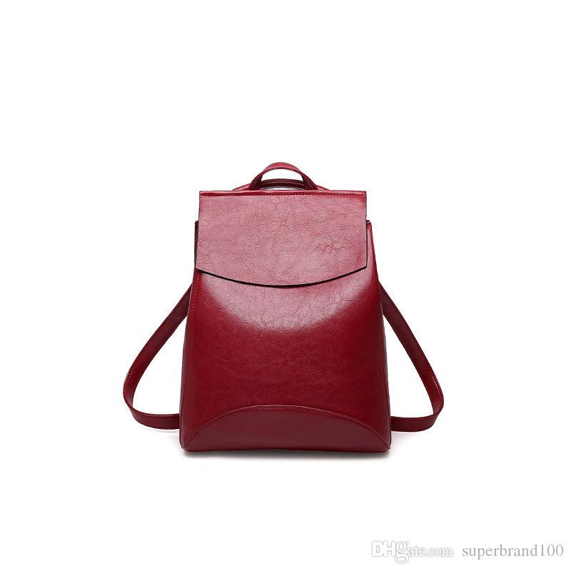 2394488cfc2e Fashion Women Backpack High Quality PU Leather Backpacks for Teenage ...