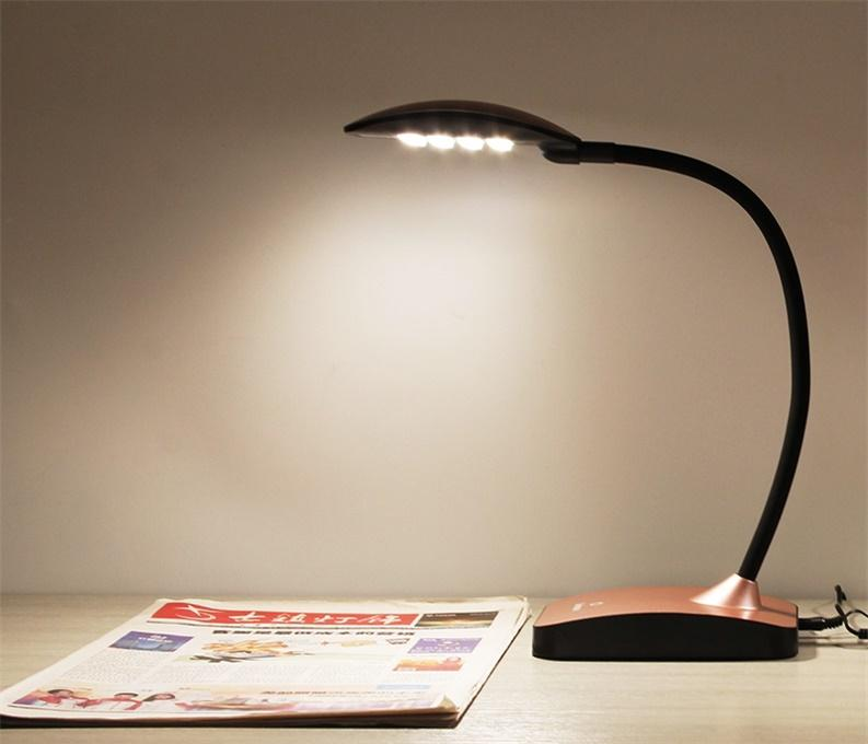 Eye Care desk lamp Polarized light source LED Gooseneck design left-hand and right-hand optional and for choice CE UL listedAdapte