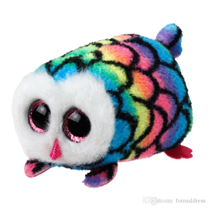 TY Beanie Boo teeny tys Plush - Icy the Seal 9cm Ty Beanie Boos Big Eyes Plush Toy Doll Purple Panda Baby Kids Gift 60 styles