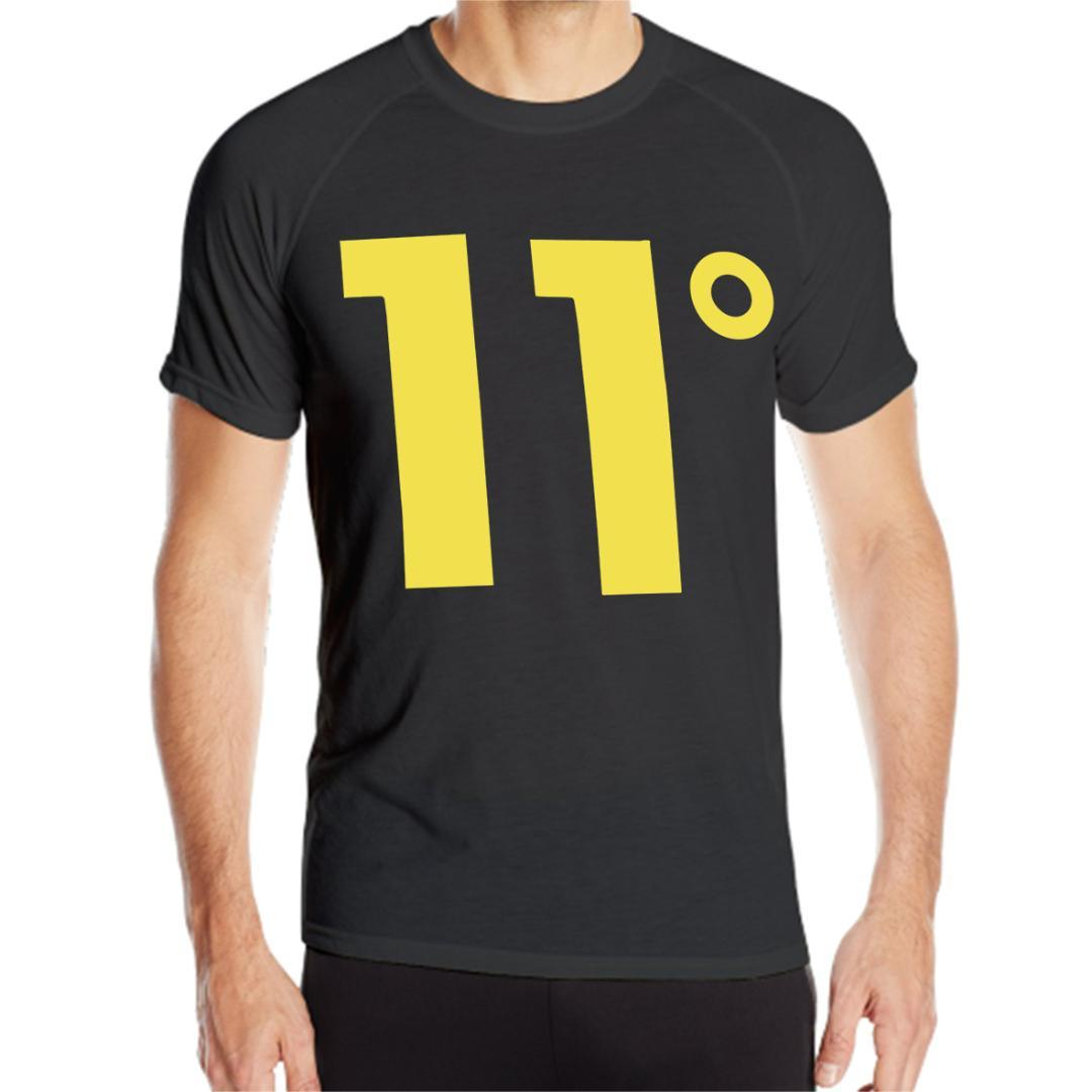 0682558a61cb 2019 Sport Quick Dry Running Shirts Basketball Soccer Training T Shirt 11  Degrees Men S Logo Black From Shinyday