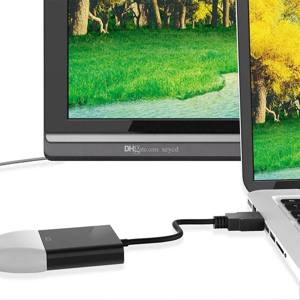1080 P HDMI Erkek VGA Kadın Ses Video Kablosu Adaptörü Dönüştürücü Kablosu PC DVD TV Için ÜCRETSIZ DHL
