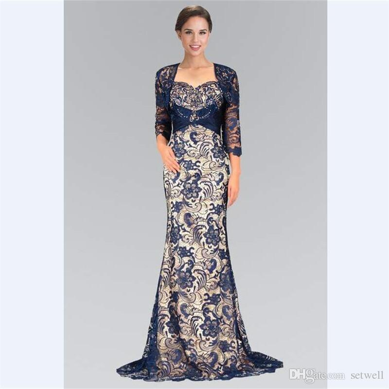 ab9f44d0f81 2018 Hot Sale Grey Purple Lace Mother S Dresses 3 4 Sleeves Mermaid Mother  Of The Bride Dress With Shawl Long Evening Prom Gowns White Mother Of The  Bride ...