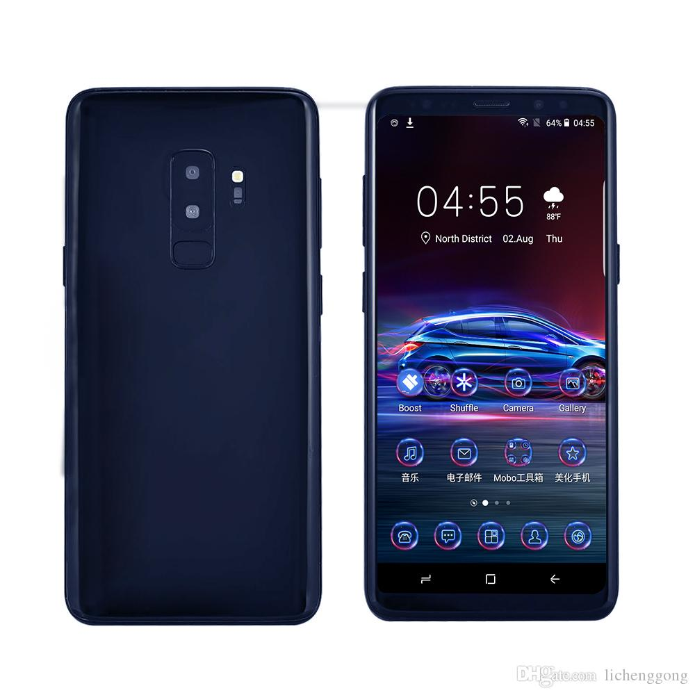 V69 Goophone 9 Plus 4G LTE 64-Bit Quad Core 2GB 16GB Face ID Fingerprint Wireless Android 8.0 6.2 inch Full Screen 18:9 HD Smartphone