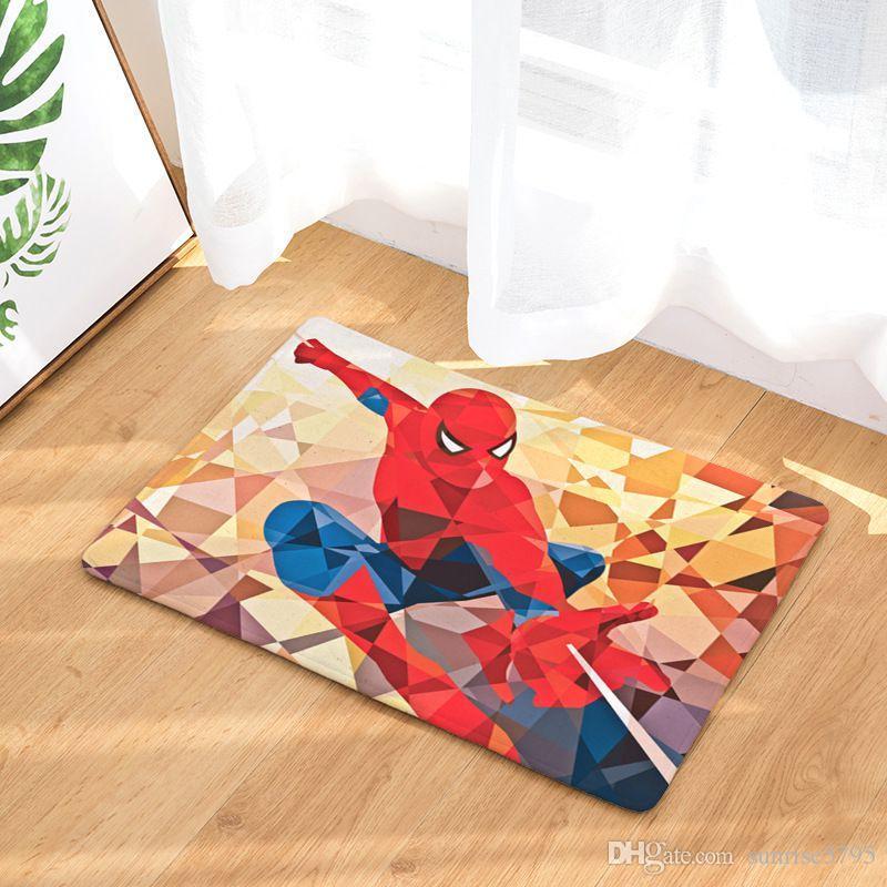 Digital Print Floor Carpet Superhero Doormat Soft Kids