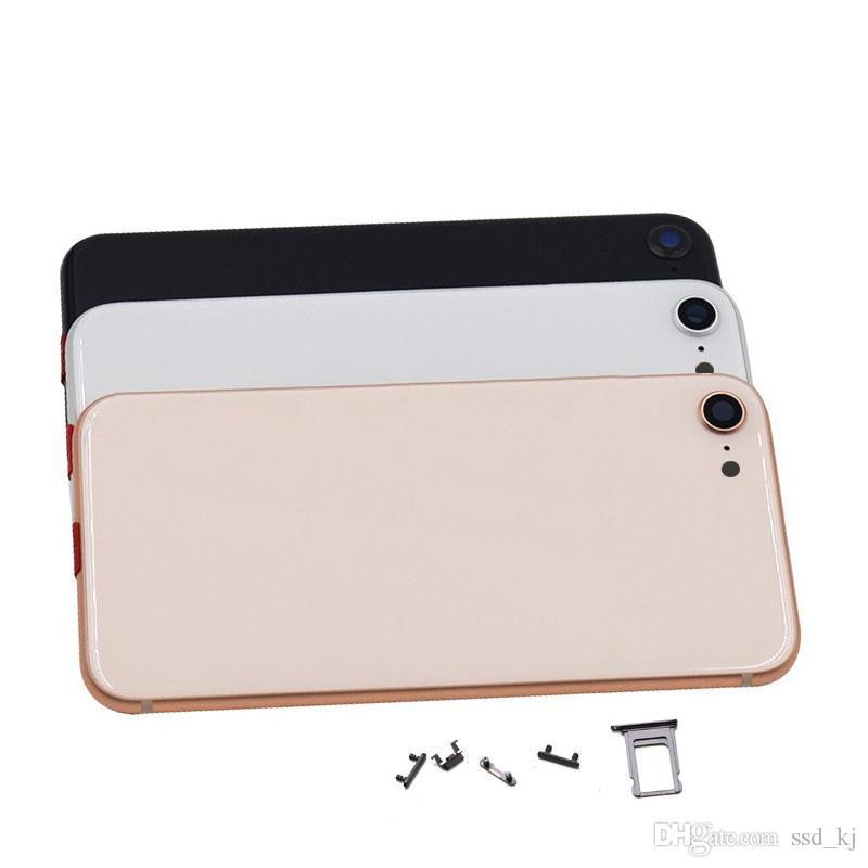 Pil Kapağı IPhone 8 8g 8plus artı X'in Arka Konut Kapak Pil Kapı Replacment Yüksek Kaliteli Tamir Parçaları Yepyeni