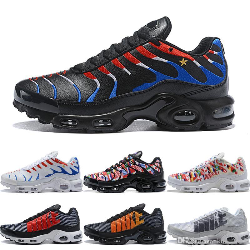 buy online 0c175 e6328 Compre 2018 Plus TN SE Zapatos De Correr Hombres Mujeres Francés  Personalizado Copa Mundial Logo Zapatillas De Deporte Para Hombre Jogging  Zapatos ...