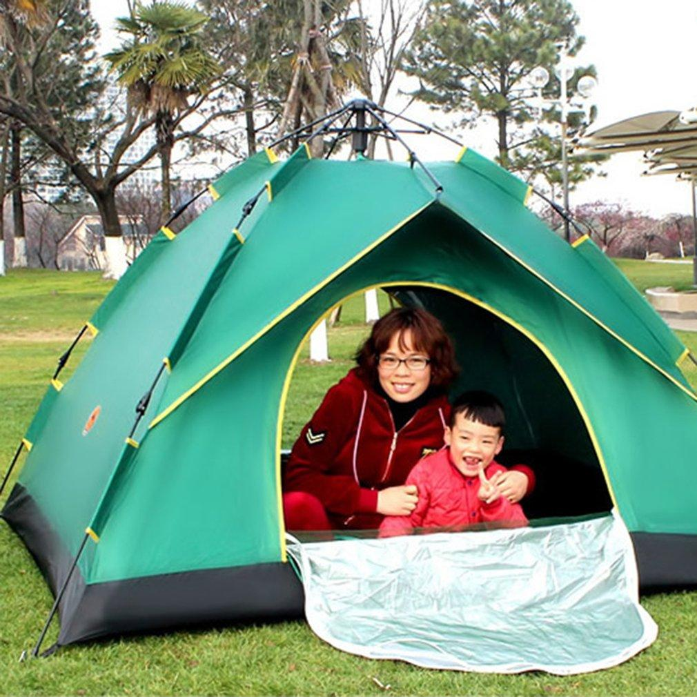 Desert Camel Automatic Tent Single-layer Waterproof Anti-UV Shelter Outdoor  Camping Hiking Tent Family 4 Person Drop Ship