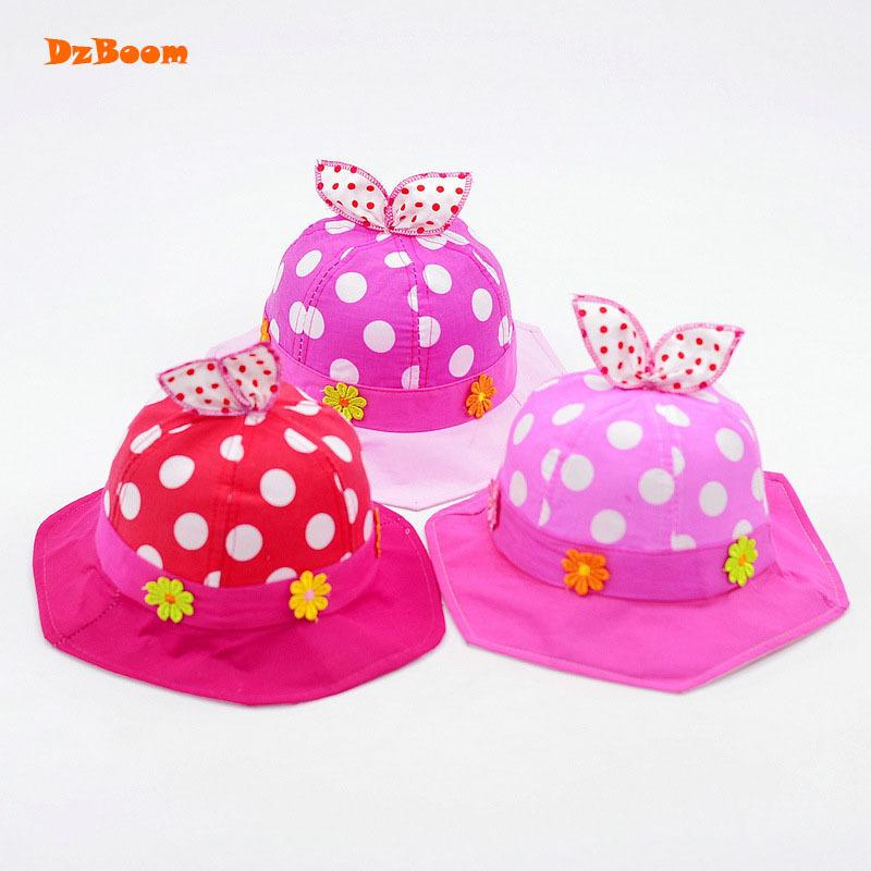 06ca9290 2019 DzBoom Baby Summer Hat Cotton Embroidery Flower Kids Fisherman Hat  2018 Korean Cute Bow Dot Fishing Cap Wholesale Baby Girl From Universecp,  ...