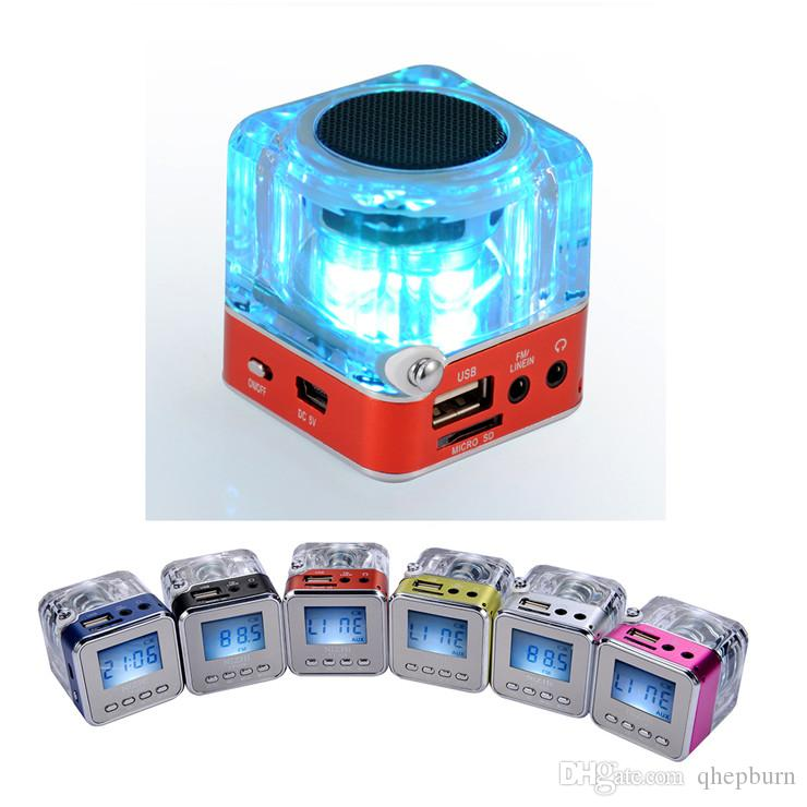 2018 2018 New Gift Small Speaker, Usb, Colorful Glowing Crystal ...