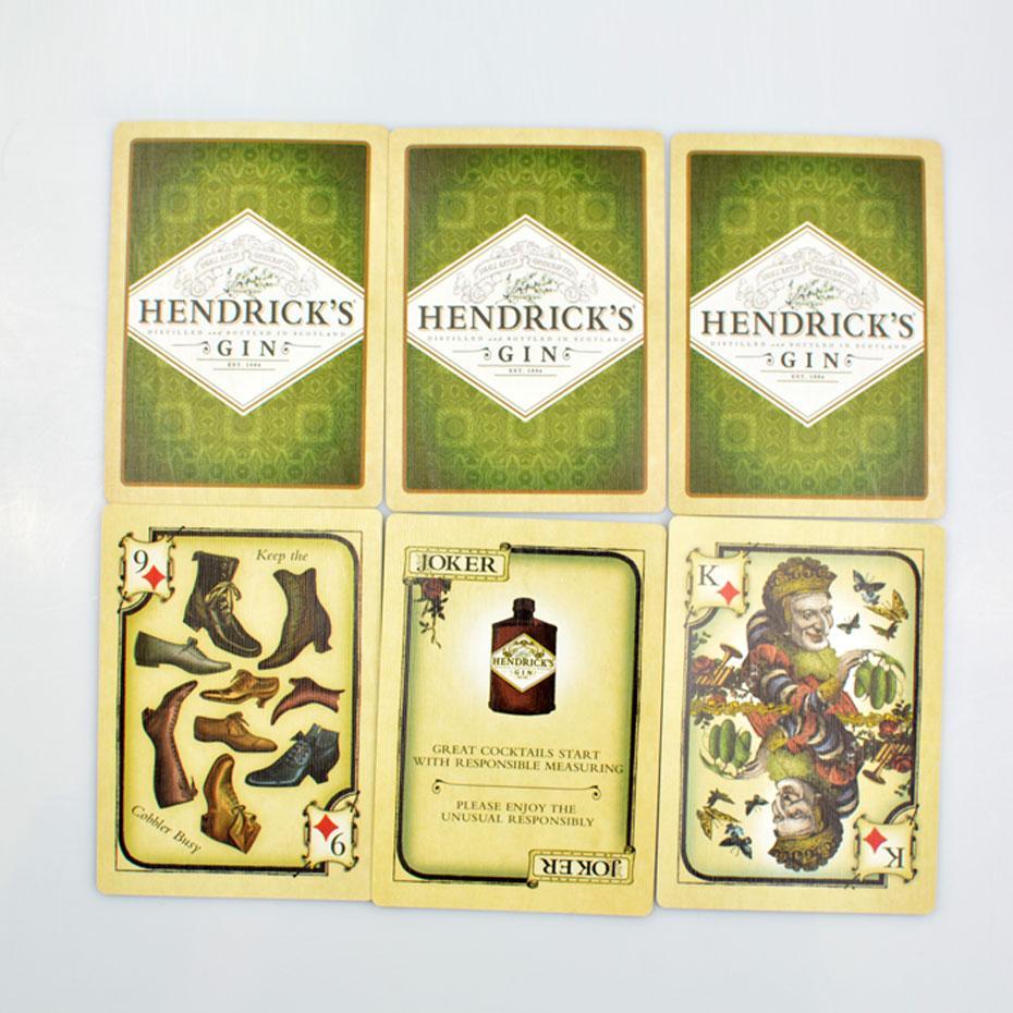 Liene الكلاسيكية ، أوراق اللعب ، HINDRICK'S GIN Cards ، بطاقات Black Core Paper ، الترفيه ، لعبة الشرب ، لعبة البوكر