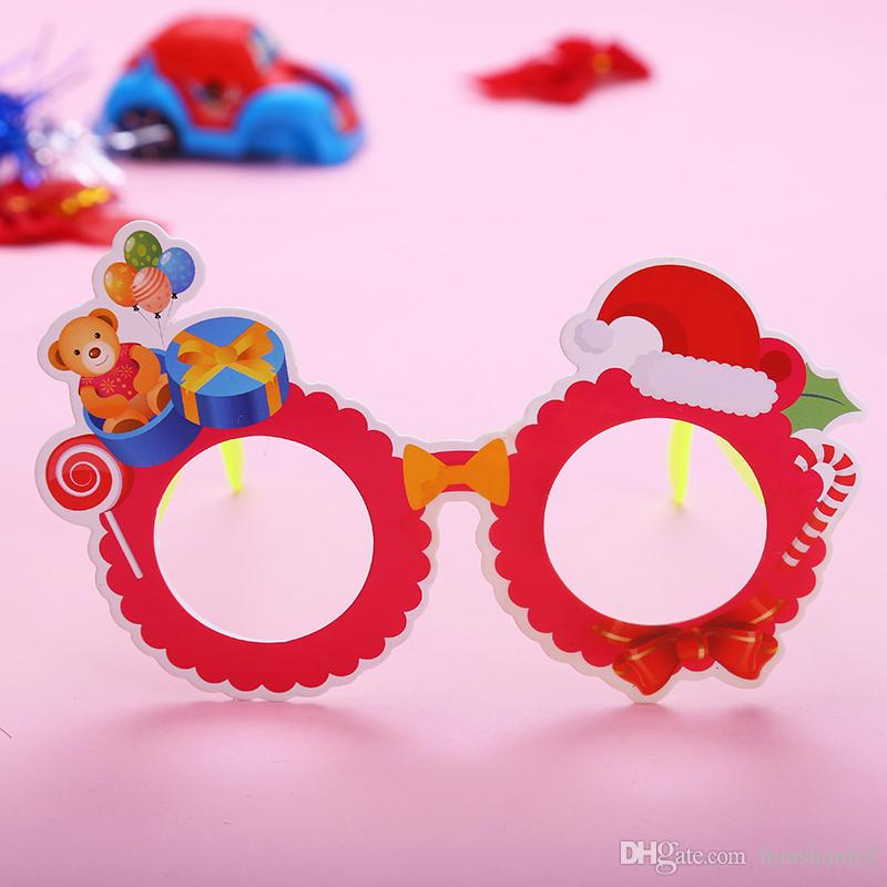2018 new christmas party holiday decoration props children cartoon glasses plastic toy gift snowman antler glasses frame cheap xmas toys toys for christmas