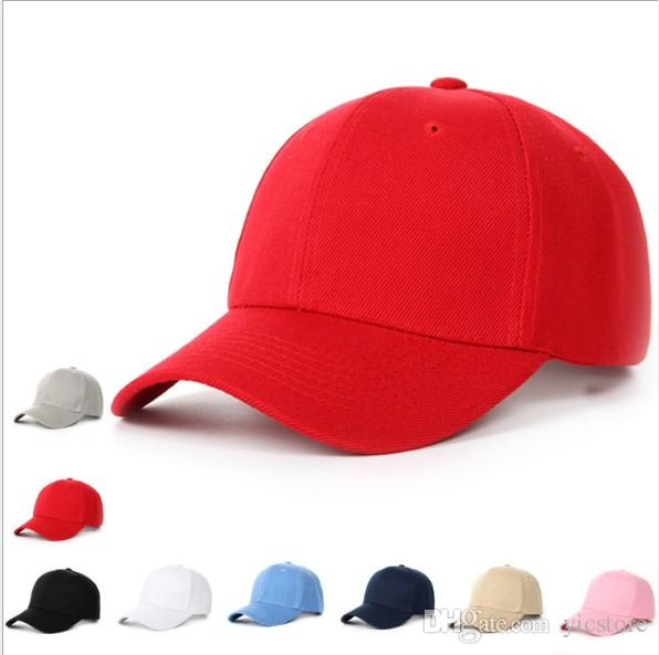 2f80faedb Designer Blank Cotton Curved Baseball Caps Adjustable Strapback For Adults  Mens Womens Plain Sports Hats Solid Color Sun Visor Custom Logo